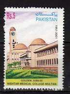 PAKISTAN 2001 The 50th Anniversary Of Nishtar Medical College, Multan. MNH - Pakistan