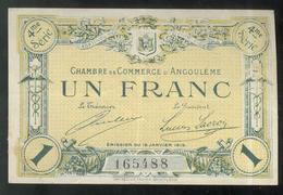 Billet 1 Franc Chambre De Commerce D' Angoulème - Remboursement 1920 - TTB+ - Buoni & Necessità