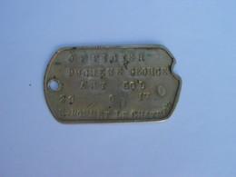 Plaque D' Identité - OFFICIER  DUCHENE GEORGES - ART . COL - 29 . 6. 17 - St- BONNET LE CHATEAU - 1914-18