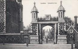Postcard London Lincoln's Inn By W Straker Of London My Ref  B13011 - London