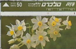 TARJETA TELEFONICA DE ISRAEL. Nature Protection - Flowers. Common Narcissus. 308A. BZ-054. (157) - Flores