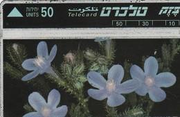 TARJETA TELEFONICA DE ISRAEL. Nature Protection - Flowers. Lashon Par Smura. 308B. BZ-055. (158) - Flores