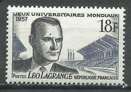 France YT N°1120 Jeux Universitaires Mondiaux  Léo Lagrange Neuf ** - France