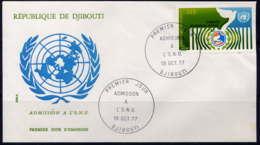 DJIBOUTI - FDC A115 - ADMISSION A L'O.N.U. - Djibouti (1977-...)