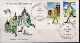 DJIBOUTI - FDC A135/136 - JEUX OLYMPIQUE DE MOSCOU - Djibouti (1977-...)