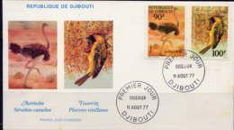 DJIBOUTI - FDC 463/464 - OISEAUX - Djibouti (1977-...)