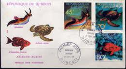 DJIBOUTI - FDC 465/467 - ANIMAUX MARINS - Djibouti (1977-...)