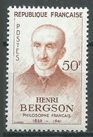 France YT N°1225 Henri Bergson Neuf ** - France