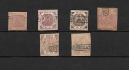 Estados Italianos. Napoles. Conjunto De 6 Sellos Usados - Nápoles