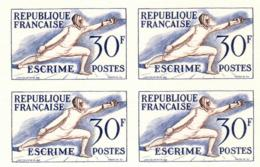 Lot 734 France N°962 Réimpression Bloc De 4 - Coins Datés