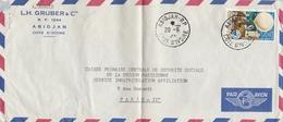 LSC - Cachet ABIDJAN - COTE D'IVOIRE & Timbre - Costa D'Avorio (1960-...)