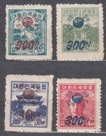 South Korea 1951 Overprint Selection, Mint Hinged/never Hinged - Korea, South