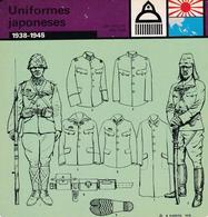 FICHA JERARQUIA MILITAR: UNIFORMES JAPONESES. 1938-1945 - Otras Colecciones
