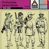 FICHA JERARQUIA MILITAR: UNIFORMES AMERICANOS. 1942-1945 - Otras Colecciones