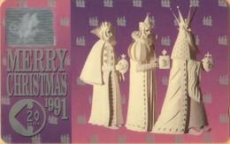 Isle Of Man - GPT, Christmas 1991, CN 11IOMA, Three Wise Men, 3,882ex, 1991, VF Used - Man (Eiland)