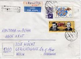 UdSSR 1974 - MiNr: 4217+4273+3280 Auf Rekobrief - Briefe U. Dokumente