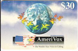 USA - Artwork/Dana W.Nyson, Amerivox Prepaid Card $30, Used - Stati Uniti