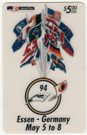 USA - 1st International Phonecard Fair/Essen-Germany, Amerivox Prepaid Card $5, Tirage 3700, 04/94, Mint - Stati Uniti