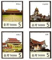 2007 Taiwan Famous Temple Stamps Buddhist Religion Tzu Chi - Celebrations