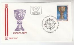 1974 Kremsmunster EUROPA FDC Austria SPECIAL Pmk  Cover Stamps - 1974
