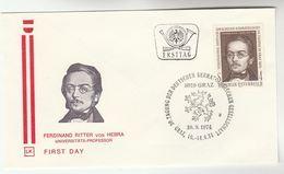 1974 AUSTRIA FDC  RITTER Dermatology  SPECIAL Pmk Cover Health Medicine Stamps - Medicine