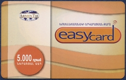 ARMENIA ARMENTEL EASYCARD 5000 DRAM RECHARGE PRE-PAID PHONECARD TELEPHONE CARD TELECARTE - 2004 YEAR - PERFECT - Armenia