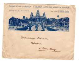CAMBODGE - ENVELOPPE  GRAND HÔTEL D'ANGKOR A SIEMREAP HOTEL DES RUINES  AV 2019  Alb 48 - Autographes