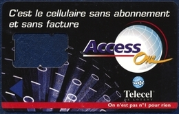 IVORY COAST - Côte D'Ivoire - Elfenbeinküste - Costa D'Avorio TELECEL DE LOTENY ACCESS ONE GSM (SIM) CARD USED FRAME - Côte D'Ivoire