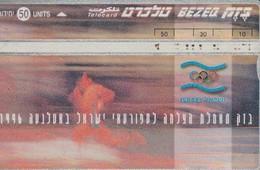 TARJETA TELEFONICA DE ISRAEL. Sports. Atlanta Olympics 1996. 606C. BZ-108. (269). - Juegos Olímpicos