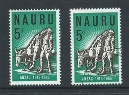 Nauru 1965 ANZAC WWI Anniversary 5d Single Both MNH & VFU - Tristan Da Cunha