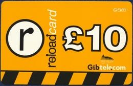 GIBRALTAR GIBTELECOM GSM PRE-PAID RECHARGE CARD 10 POUNDS PERFECT CONDITION - Gibraltar
