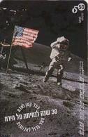 TARJETA TELEFONICA DE ISRAEL.  30 Years To The Moon Landing. 926B. BZ-242. (230). - Espacio