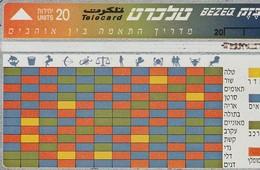TARJETA TELEFONICA DE ISRAEL. Compatibility Zodiac Matching. 668C. BZ-142. (277). - Zodiaque