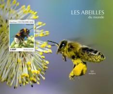 Z08 CA190206b Central Africa 2019 Bees MNH ** Postfrisch - Centrafricaine (République)