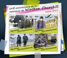 Z08 CA190210a Central Africa 2019 Winston Churchill MNH ** Postfrisch - Zentralafrik. Republik