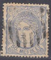 SPAGNA - SPAIN - ESPAGNE - 1870 - Yvert 107a Usato. - 1870-72 Reggenza