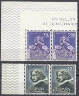 SPAGNA - SPAIN - ESPAGNE - 1961 - Serie Completa In Coppie Per Complessivi 8 Valori Nuovi MNH: Yvert 1017/1020. - 1931-Oggi: 2. Rep. - ... Juan Carlos I