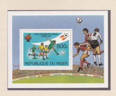 Niger  Souvenir Sheet 1982 World Cup Spain FIFA Football  MNH/** (H48) - 1982 – Espagne