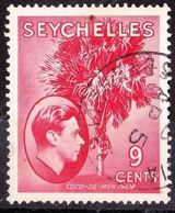 SEYCHELLES 1938 KGVI 9 Cents Scarlet SG138 FU - Seychelles (...-1976)