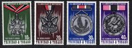 Trinidad & Tobago 1973 QE2 Anniv Independence Medals Umm SG 440 - 443( J1449 ) - Trinidad & Tobago (...-1961)