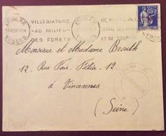 V72 Vosges Épinal «Villégiature Au Milieu Des Forêts...» 124ème ERGT  Le Vaguemestre Paix 65c 13/6/1939 - Marcophilie (Lettres)