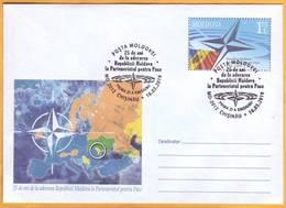 2019 Moldova Moldavie FDC 25 Years. Partnership For Peace. North Atlantic. NATO. Europe. - NATO