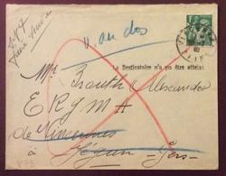 V73 «Le Destinataire N'a Pu être Atteint» Vincennes Paix 1f - 1921-1960: Modern Period