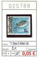Tansania - Tanzania - Michel 21 - Oo Oblit. Used Gebruikt - Gem. Scan - As Per Scan - Tansania (1964-...)