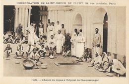 Missions, Congrégation De Saint-Joseph De Cluny - Inde: L'heure Du Repas à L'Hôpital De Chandernagor - Missions