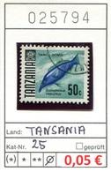 Tansania - Tanzania - Michel 25 - Oo Oblit. Used Gebruikt - Gem. Scan - As Per Scan - Tansania (1964-...)