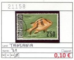 Tansania - Tanzania - Michel 31 - Oo Oblit. Used Gebruikt - Gem. Scan - As Per Scan - Tansania (1964-...)
