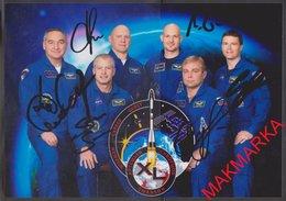 MAKMARKA SPACE RUSSIA 2014 ISS-40 AUTOGRAPHERS SKVORTSOV/ARTEMYEV/SWANSON/SURAYEV/WISEMANN/GERST 1 PHOTO (21Х15)(D-6) - Autógrafos