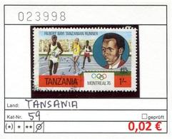 Tansania - Tanzania - Michel 59 - Oo Oblit. Used Gebruikt - Gem. Scan - As Per Scan - Tansania (1964-...)