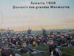BELGIQUE BELGIE Cap Postcard - AYWAILLE 1906 - Souvenir Des Grandes Manoeuvres - Militaire - Armée #2/4 - Aywaille